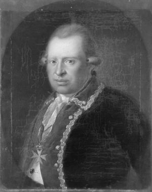 Battle of Cooch's Bridge - Lt. Col. Ludwig von Wurmb, portrait c. 1788