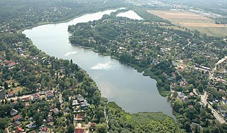 Falkensee - Aerial view with Falkensee lake