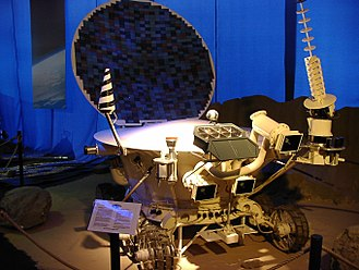 Lunokhod programme - Model of Lunokhod series Soviet Moon exploration robot vehicle