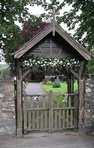 Lychgate - A lych gate in Ceredigion, Wales, decorated for a wedding
