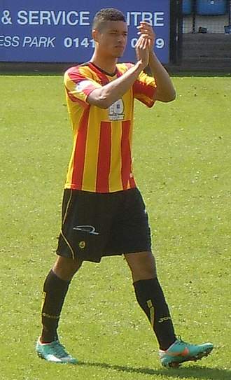 Lyle Taylor - Taylor playing for Partick Thistle in 2014