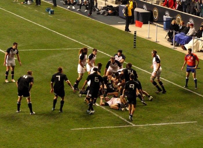 Māori All Blacks against the USA Eagles at PPL Park