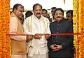 M. Venkaiah Naidu inaugurating a Photo Exhibition on 'New India – Resolve to Make', organised by the Ministry of Parliamentary Affairs and DAVP.jpg