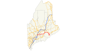 Maine State Route 3 - Image: ME 3 map