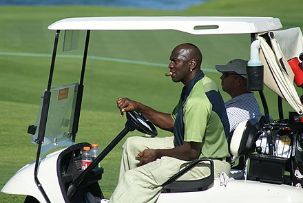 Jordan on a golf course in 2007 MJ golf course.jpg