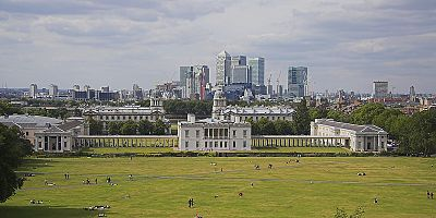 View from Greenwich Observatory which is easily reached by boat services plying the Thames