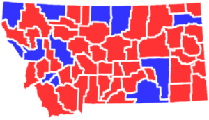 United States presidential election in Montana, 1988 - Image: MT1988president