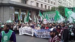 Madres de Plaza de Mayo and ATE in the Marcha Federal of 2016 in Argentina.jpg