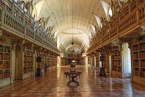 Manuel Caetano de Sousa - Library of the Palace of Mafra designed by Manuel Caetano de Sousa