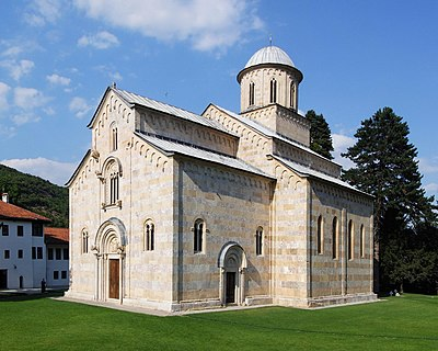 Serbian Orthodox Monastery of Decani, from the first half of the 14th century (World Heritage Site) Manastir Visoki Decani (Manastir Visoki Dechani) - by Pudelek..jpg