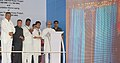 Manmohan Singh laying the Foundation Stone of 1600 MW Stage-I of NTPC- Lara Super Thermal Power Project through remote control, at Sipat, in Bilaspur district of Chhattisgarh. The Governor of Chhattisgarh, Shri Shekhar Dutt.jpg
