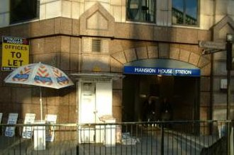 Mansion House tube station - Entrance on Cannon Street
