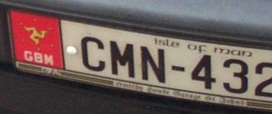 ManxCarRegistrationPlate