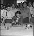 Manzanar Relocation Center, Manzanar, California. Chemists, nurserymen, and plant propagators at th . . . - NARA - 538037.tif