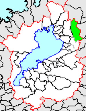 Ibuki, Shiga - Location of Ibuki