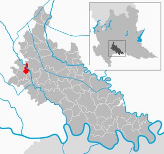 Salerano sul Lambro - Image: Map IT Lodi Salerano sul Lambro
