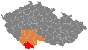 District location in the گونئی بوهم اوستانی within the Czech Republic