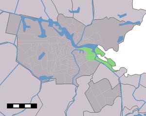 Zeeburg - Image: Map NL Amsterdam Stadsdeel Zeeburg