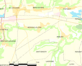 Mapa obce Ressons-le-Long