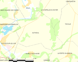 Mapa obce Autheuil