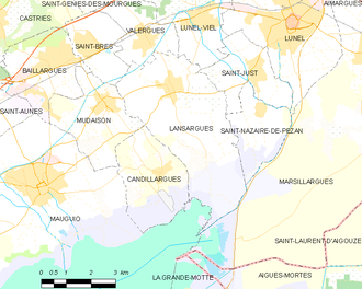 Lansargues - Map