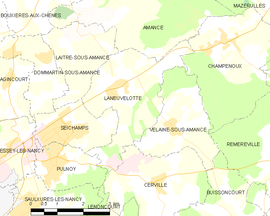 Mapa obce Laneuvelotte