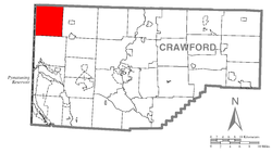 Location of Beaver Township in Crawford County