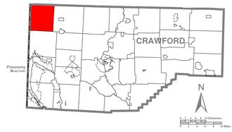 Beaver Township, Crawford County, Pennsylvania - Image: Map of Beaver Township, Crawford County, Pennsylvania Highlighted