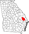 Map of Georgia highlighting Bulloch County.svg