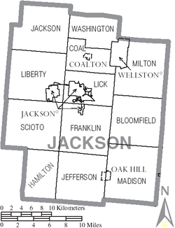 Map of Jackson County Ohio With Municipal and Township Labels.PNG