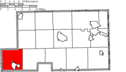 Location of Smith Township in Mahoning County