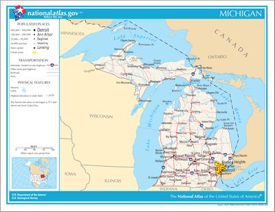 TemplateLocation Map USA Michigan Wikipedia - Michigan on the map of usa