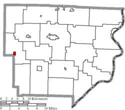 Location of Stafford in Monroe County