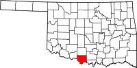 Map of Oklahoma highlighting Jefferson County.svg