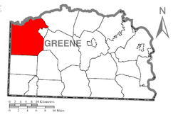Location of Richhill Township in Greene County
