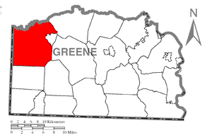 Richhill Township, Greene County, Pennsylvania - Image: Map of Richhill Township, Greene County, Pennsylvania Highlighted