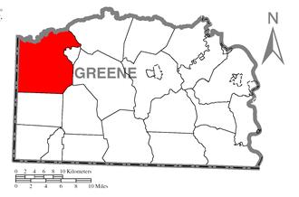 Richhill Township, Greene County, Pennsylvania - Image: Map of Richhill Township, Greene County, Pennsylvania Highlighted