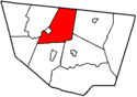 A medium size township in the north of the county