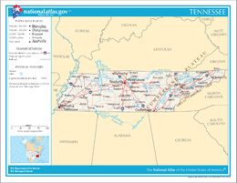 Tennessee – Mappa