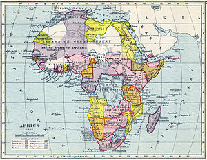 Sphere of influence - Image: Map of colonial Africa in 1897