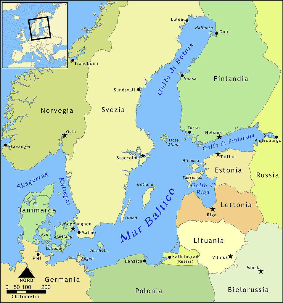 Cartina del Mar Baltico