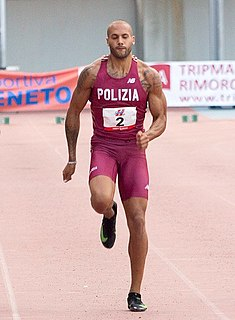 Marcell Jacobs Italian sprinter and long jumper