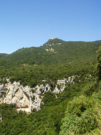 Mare de Déu del Mont - View of El Mont, the highest peak in the range.