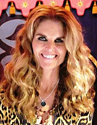 Maria Shriver at Womens Conference book signing October 2010 crop.jpg
