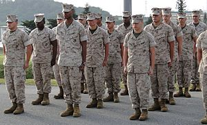 Marine Corps Combat Utility Uniform - Image: Marines in formation