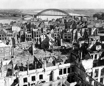 Nijmegen after the battle. 28 September 1944. Market-Garden - Nijmegen and the bridge.jpg