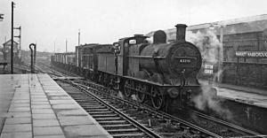Market Harborough railway station - Market Harborough Station in 1957