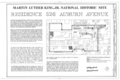 Martin Luther King, Jr. National Historic Site, 526 Auburn Avenue (House), 526 Auburn Avenue, Atlanta, Fulton County, GA HABS GA,61-ATLA,51- (sheet 1 of 6).png