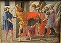 Masaccio, predella con martirio dei ss. pietro e g. battista, 1426, 03.JPG