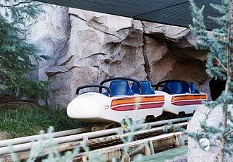 History of the roller coaster - Matterhorn Bobsleds, the world's first tubular steel roller coaster.